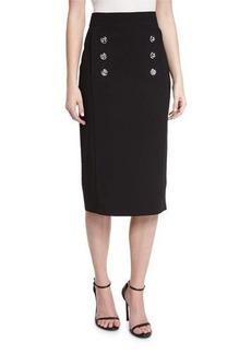 Michael Kors Button-Front Pencil Skirt