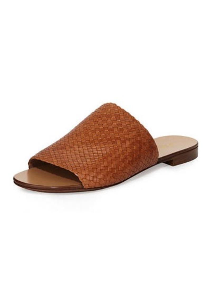 287d32f6add2 Michael Kors Michael Kors Byrne Woven Flat Slide Sandal