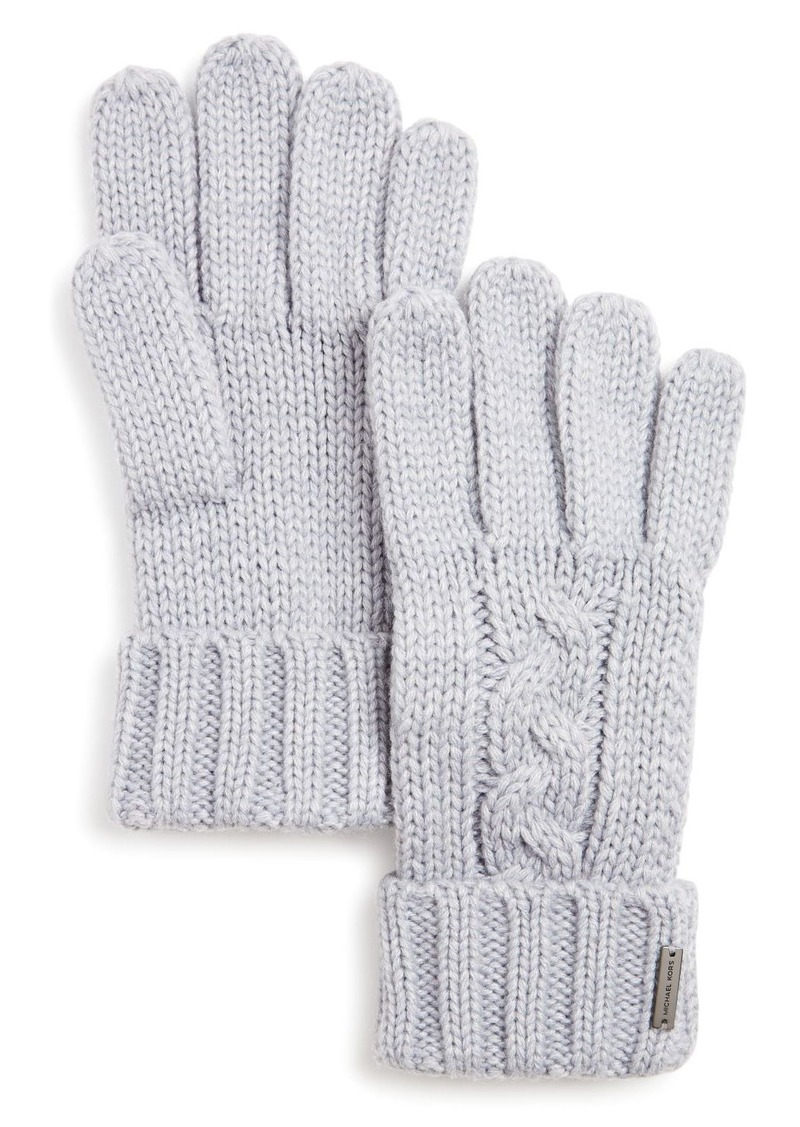 Michael Kors Cable-Knit Cuff Gloves