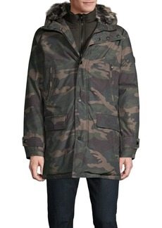 Michael Kors Camo Faux-Fur Hooded Jacket