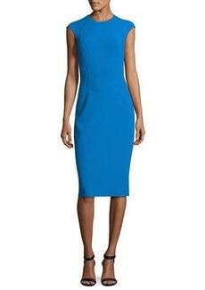 Michael Kors Cap-Sleeve Crewneck Sheath Dress