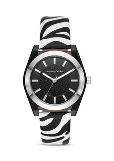 Michael Kors Channing Animal-Print Leather Strap Watch, 40mm