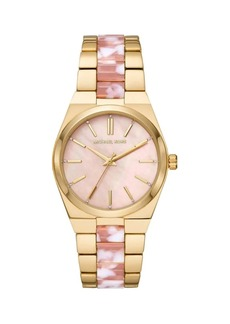Michael Kors Channing Three-Hand Two-Tone Stainless Steel Watch
