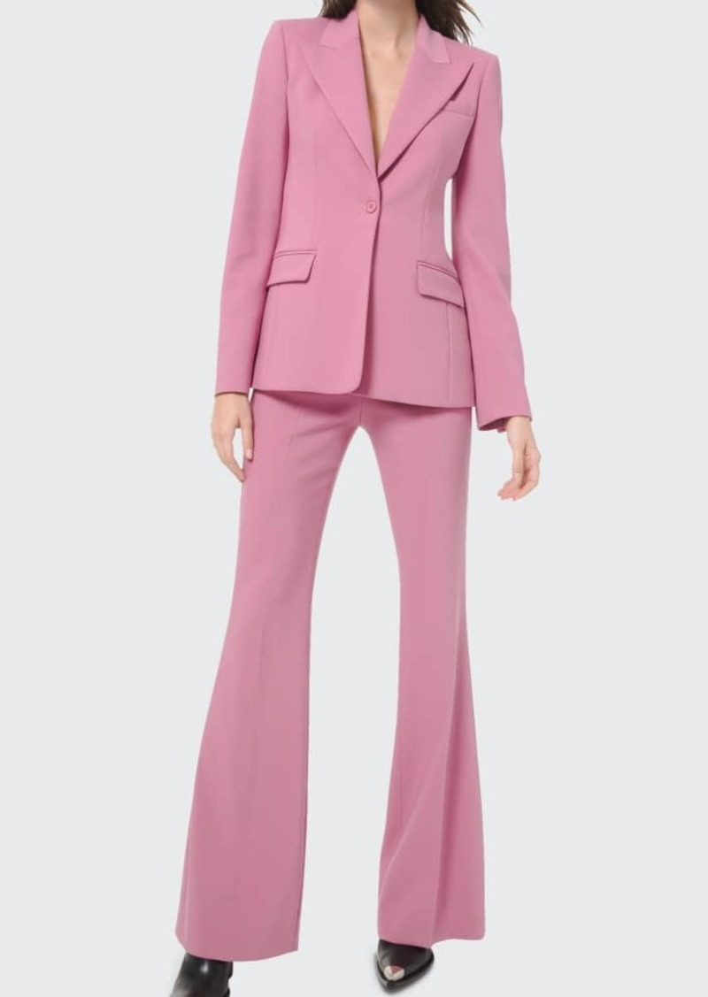 Michael Kors Collection Charlie Crepe High-Rise Flare Pants