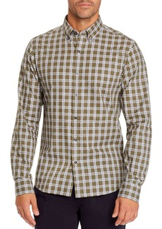 Michael Kors Check Slim Fit Button-Down Shirt