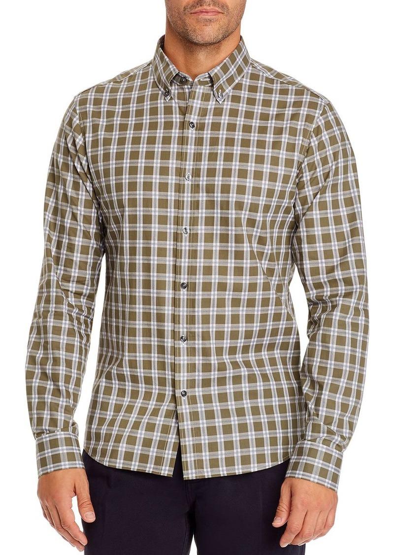 Michael Kors Check Slim Fit Button-Down Shirt