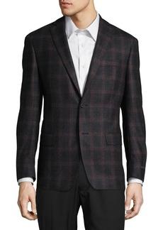 Michael Kors Slim-Fit Wool Check Suit Jacket