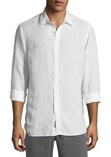 Michael Kors Classic Linen-Blend Sport Shirt