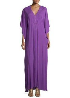 Michael Kors 3/4-Sleeve Button-Front Caftan