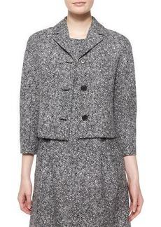Michael Kors Collection 3/4-Sleeve Tweed Jacket