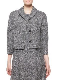Michael Kors 3/4-Sleeve Tweed Jacket