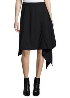 Michael Kors Asymmetric-Hem Blanket Skirt
