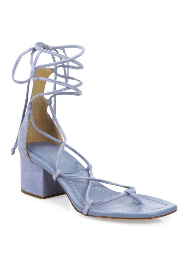 5e7d1c9c0ae9 Michael Kors Ayers Suede Lace-Up Block Heel Sandals