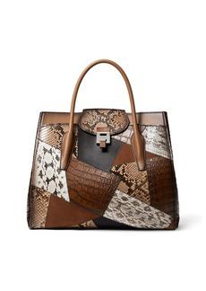 Michael Kors Collection Bancroft Patchwork Weekender Satchel Bag