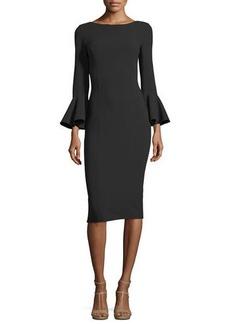 Michael Kors Collection Bell-Cuff Bateau-Neck Sheath Dress