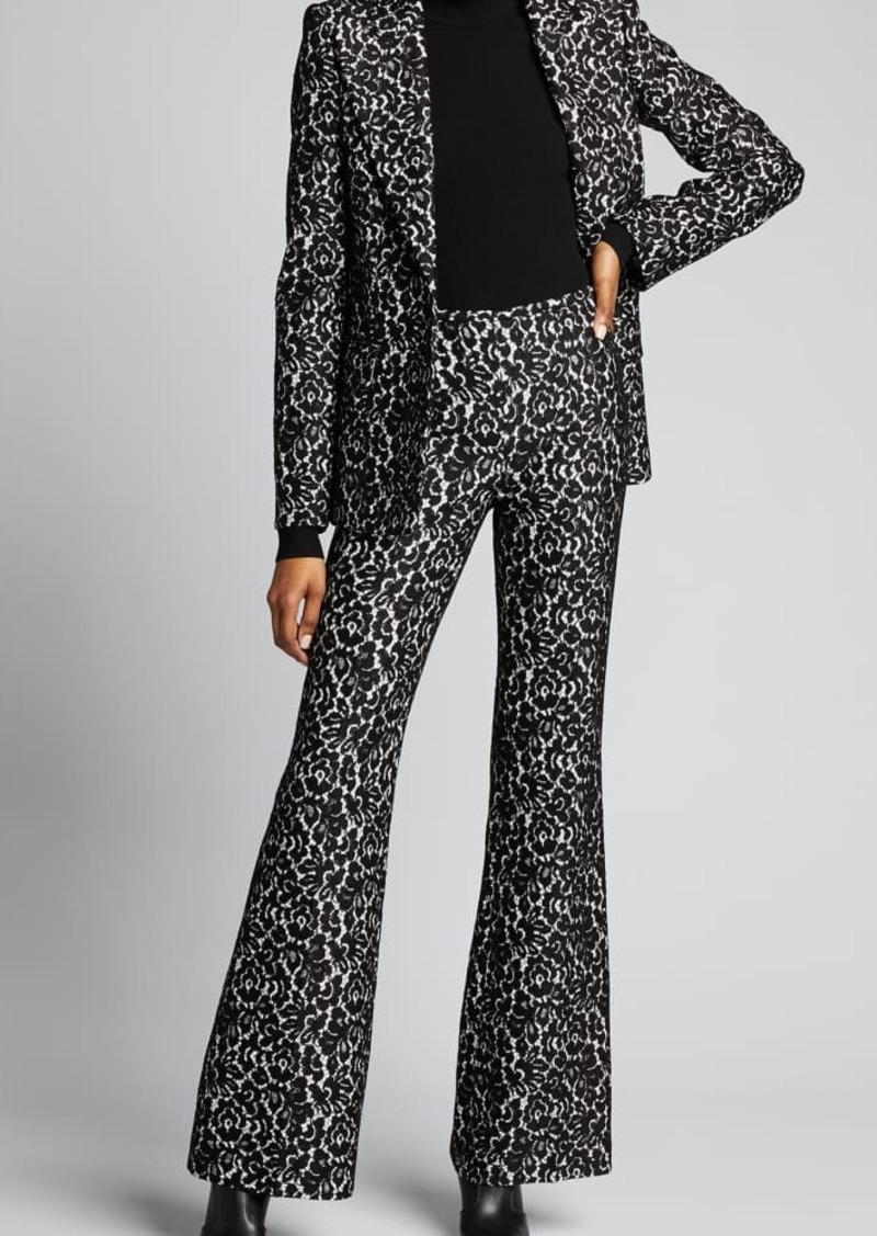 Michael Kors Collection Brooke Bonded Lace Side-Zip Pants