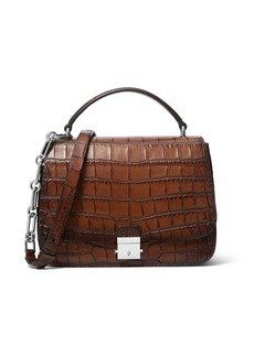 Michael Kors Collection Burnished Stamped Crocodile Top Handle Bag