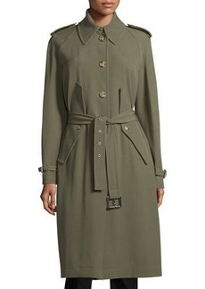 Michael Kors Collection Button-Front Belted Trench Coat