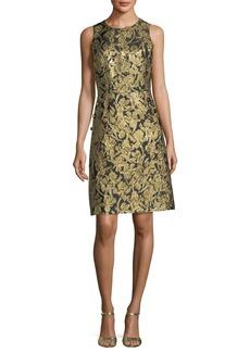Michael Kors Collection Button-Pocket Crewneck Sheath Dress