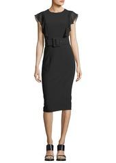 Michael Kors Cap-Sleeve Sheath Dress