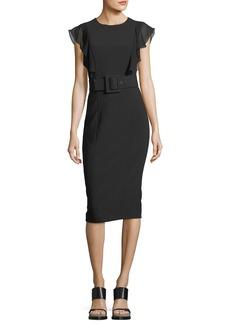 Michael Kors Collection Cap-Sleeve Sheath Dress