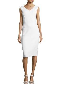 Michael Kors Collection Cap-Sleeve V-Neck Sheath Dress