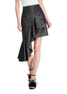 Michael Kors Collection Cascading Miniskirt