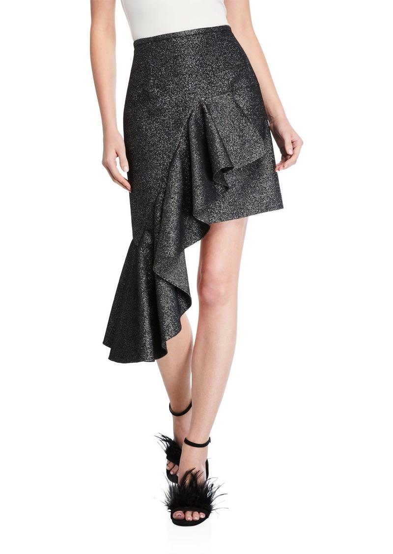 Michael Kors Collection Cascading Miniskirt