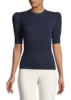 Michael Kors Collection Cashmere Puffer-Sleeve Sweater