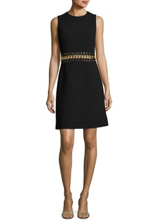 Michael Kors Collection Chain-Inset Sleeveless Minidress