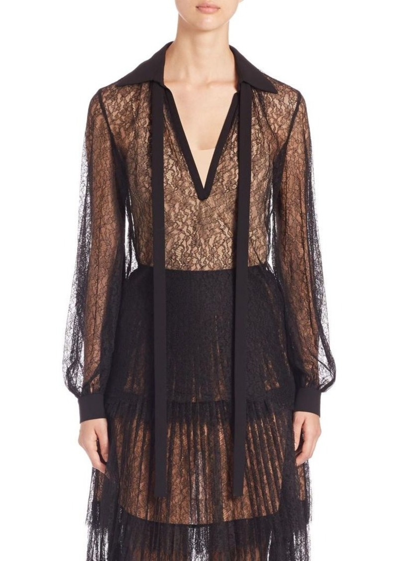 Michael Kors Collection Chantilly Lace Top