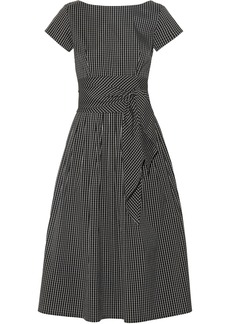 Michael Kors Collection Checked cotton-blend poplin midi dress
