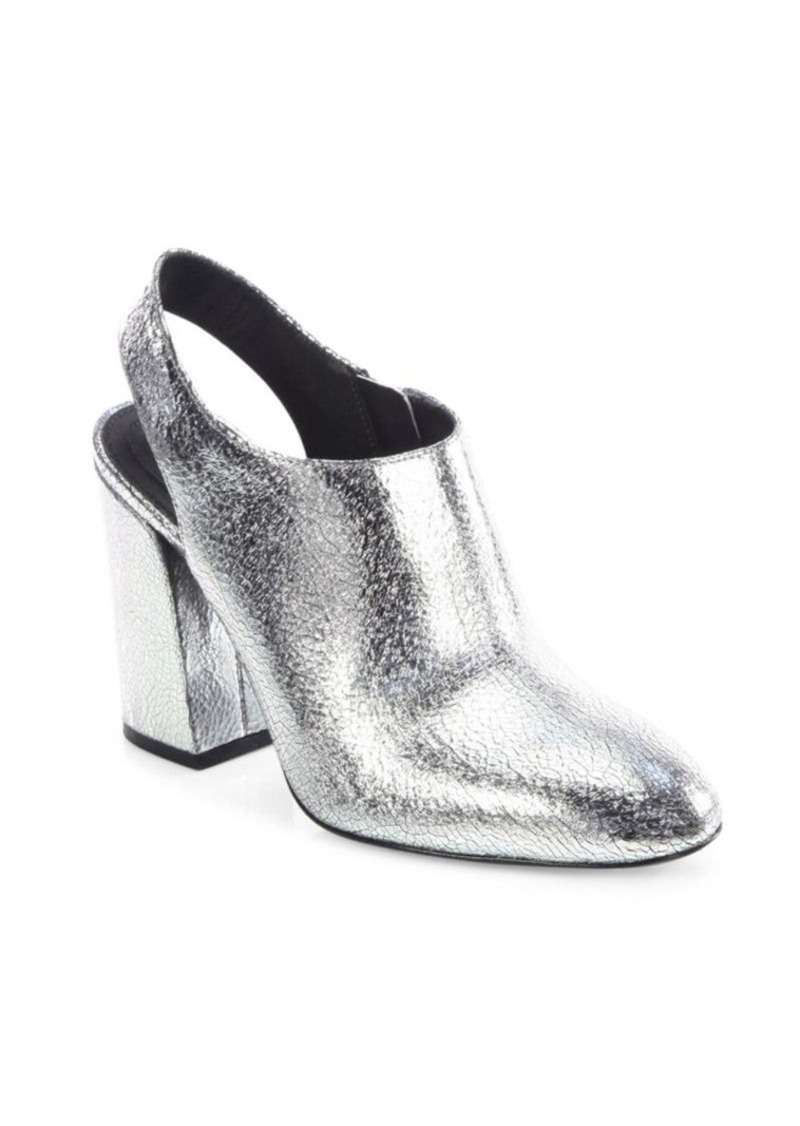 e3395481203c Michael Kors Clancy Metallic Leather Booties