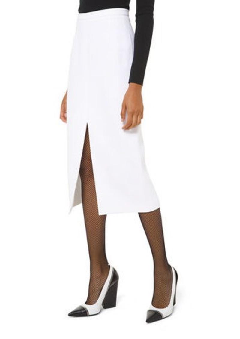 Michael Kors Collection Crepe Slit-Hem Pencil Skirt