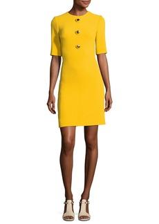 Michael Kors Collection Crewneck Half-Sleeve Shift Dress
