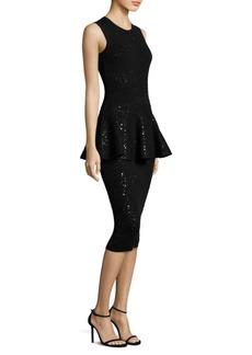 Michael Kors Collection Crewneck Peplum Dress