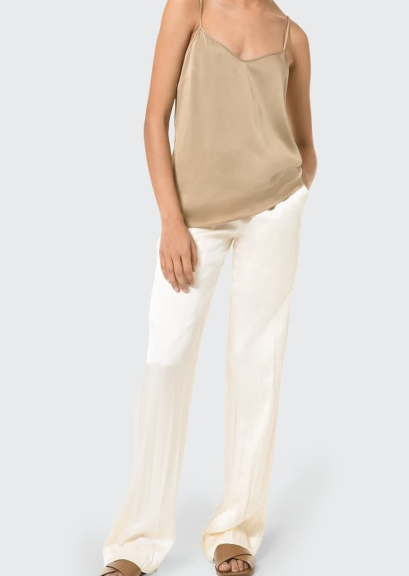 Michael Kors Collection Crushed Satin Straight-Leg Pajama Pants