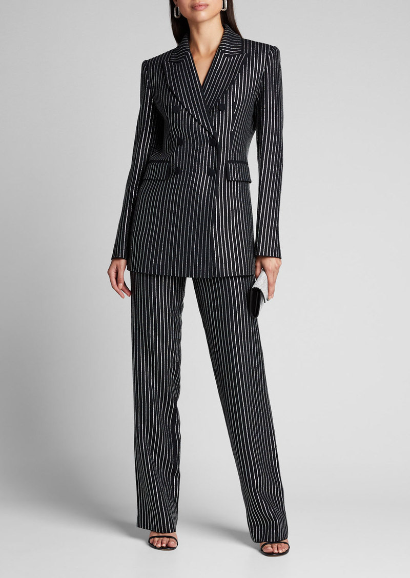 Michael Kors Collection Crystal Pinstriped Trousers