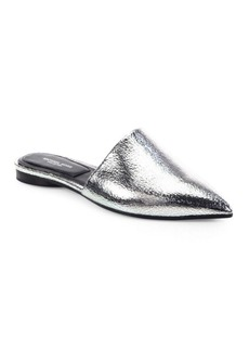Michael Kors Darla Metallic Leather Mules