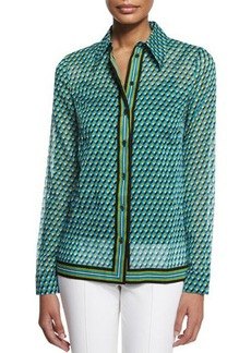 Michael Kors Deco-Print Button-Down Shirt