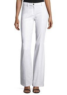 Michael Kors Collection Denim Flare-Leg Pants