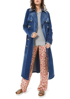 Michael Kors Collection Denim Military Trench Coat