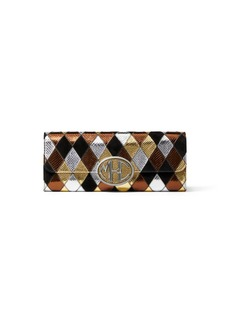 Michael Kors Collection Diamon Snakeskin Patchwork Clutch Bag