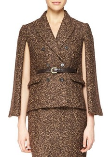 Michael Kors Double-Breasted Cape Jacket