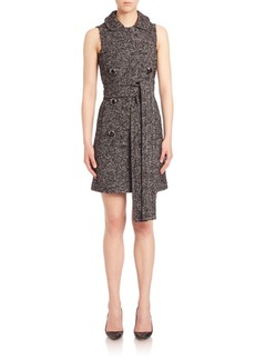 Michael Kors Collection Double-Breasted Shift Dress