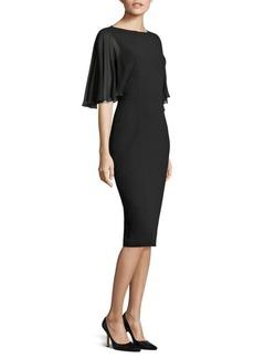 Michael Kors Collection Draped Sheath Dress