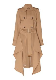 Michael Kors Collection Draped Wool-Gabardine Trench Coat