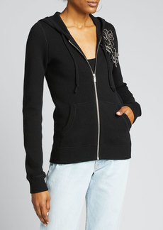 Michael Kors Collection Embellished Cashmere Hoodie