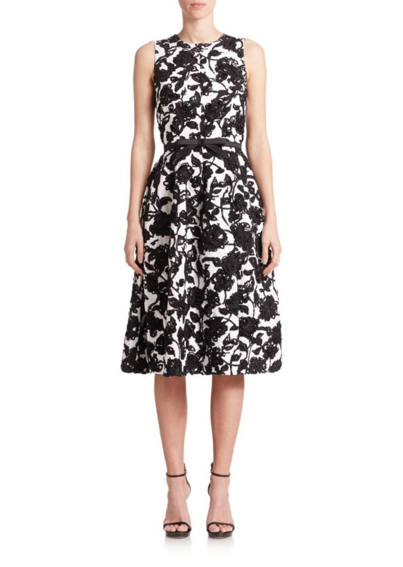Michael Kors Collection Embroidered Floral Dress