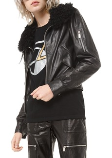 Michael Kors Collection Embroidered Moto Jacket